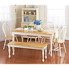 white table with bench amazon com jane 5 pc dining set table chair sets