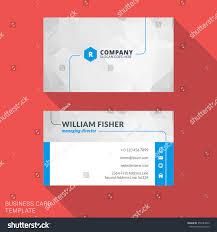 creative business card print template flat stock vector 358184063