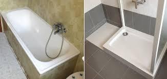 trasformare una doccia in vasca da bagno come trasformare una vasca in un box doccia da soli e in breve