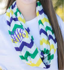 dog collar mardi gras chevron chevron jersey knit infinity scarf embroidery blanks mardi gras
