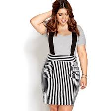 forever 21 plus sizes railroad stripe overall dress polyvore