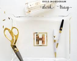 Gold Home Decor Accessories Gold Office Decor Etsy
