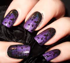 purple gradient with bridal nail bn05 the adorned claw