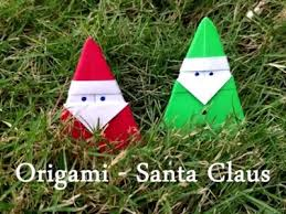 How To Make A Origami Santa - origami paper crafts how to make an origami snake new tricks