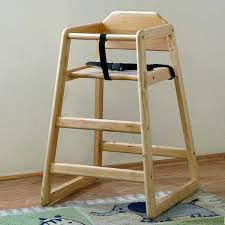 la baby stackable wood high chair natural a2z babies and chairs