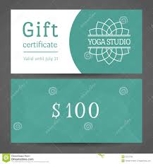 yoga gift certificate template free best and various templates ideas