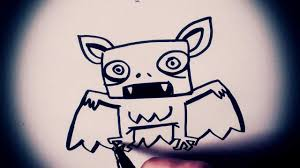 how to draw a cartoon bat by garbi kw special halloween youtube