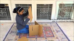 How To Make A Cardboard Chair Socially Responsible Engineering A Cardboard Stool Youtube