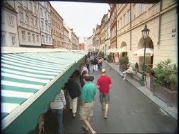 Capital City Awning Market Prague Czech Republic Sd Stock Video 467 682 983