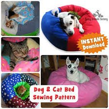 Cat Bed Pattern Lots Of Dog Sewing Patterns Funky Friends Factory