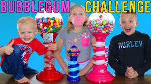 bubble gum challenge giant u0026 tiny dubble bubble gumball