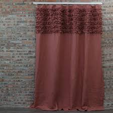 Curtains With Ruffles Ruffle Shower Curtains Bath Curtains Linenshed Linenshed