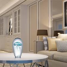 home decor dropship blue jellyfish tooarts glass sculpture home decoration glass
