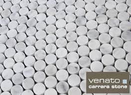 12 95 carrara venato honed penny rounds mosaic tile
