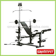weight bench utility stool commercial gym equipment with barbell