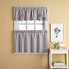 Gray Kitchen Curtains by Bloom Window Curtain Tier Pair In Grey Bed Bath U0026 Beyond