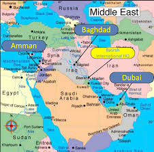 Dubai Map Of Middle East by Vital Group International Vital Consulting Group