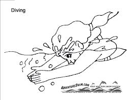 adventure swim coloring pages