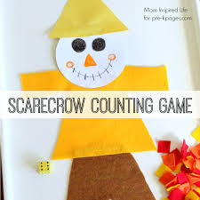 scarecrow counting kindergarten count and thanksgiving