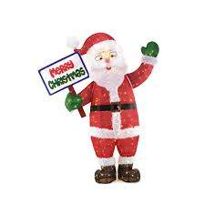 home accents 60in 200l led tinsel santa with sign ty201