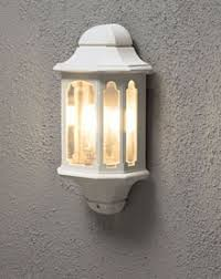 capton outdoor white half wall light