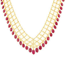 pearl ruby necklace images Buy ruby pearl gold necklace jpg;w