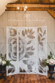 wedding backdrops diy diy screen painting backdrop ruffled