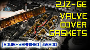 lexus sc300 intake lexus gs300 2jz ge valve cover gasket and spark plugs youtube