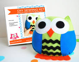 owl pillow sewing kit felt crafts felt sewing kit
