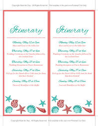 wedding itinerary for guests wedding itinerary template wedding planner coral teal