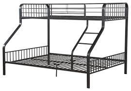 Caius Twin XlOverQueen Bunk Bed Gunmetal Industrial Bunk - Twin xl bunk bed