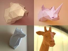diy printable paper models of a bear giraffe by poligonia on zibbet