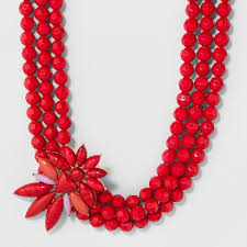 beaded coral necklace images Sugarfix by baublebar beaded statement necklace with asymmetrical