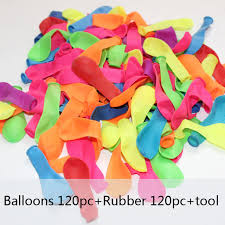 bunch balloons 120pcs water balloons 120pcs rubbers bunch balloons supplementary