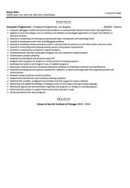 Programming Resume Examples by Computer Programmer Resume Sample Velvet Jobs