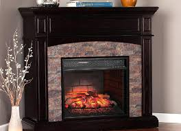 Electric Fireplace Media Center Cherry Wood Corner Electric Fireplace Convertible Media Black