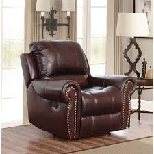 abbyson broadway top grain leather reclining armchair free
