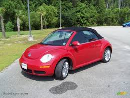 red volkswagen convertible 2008 volkswagen new beetle se convertible in salsa red 419192