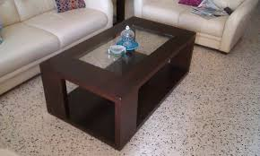 Heavy Designer Glass Top Center Heavy Wood Tables Top Center - Designer center table