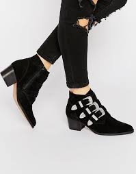 ugg boots sale asos image 1 of asos suede buckle ankle boots fashion