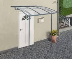 Palram Awning Palram Vega 2000 Grey Clear Door Awning 79x79 Palram Greenhouse
