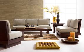 Asian Room Decor by Wooden Sofa Designs For Asian Themed Living Room Decor With Pillow