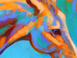 Colorful Painting by Paintings By Theresa Paden Colorful Painting Of A Running Horse