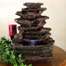 Tabletop Rock Garden Rock Garden Electric Tabletop Water Founain With Led Lights Products
