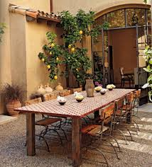 Rustic Patio Furniture by Furniture Fascinating Brown Backyard Garden Wall Color Background