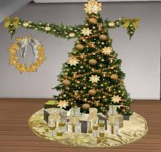gold tree skirt second marketplace gold christmas decor pack wreath tree