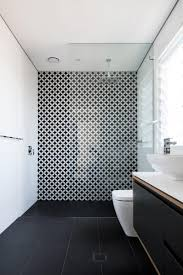 statement tiles black and white bathroom looks absolutely