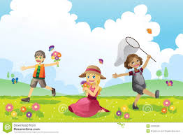 happy children in spring season royalty free stock image image