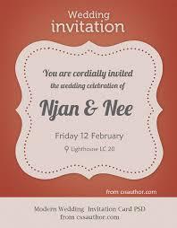 Wedding Invitation Design Modern Wedding Invitation Card Psd For Free By Cssauthor On Deviantart
