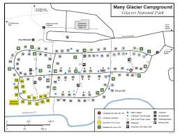 Red Lodge Montana Map by Glacier National Park Many Glacier Campground Information